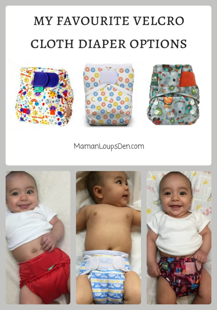 My favourite velcro cloth diaper options