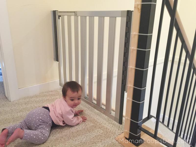 Munchkin Loft Gate Installed on Banister