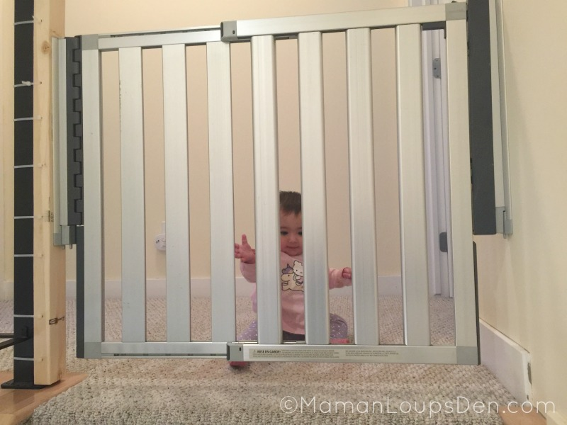 Munchkin Gate at the top of our stairs