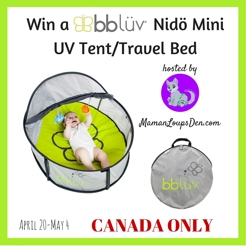 Win a Nidö Mini UV Tent-Travel Bed