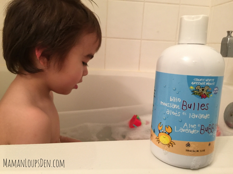 Cub's bubble bath with Souris Verte