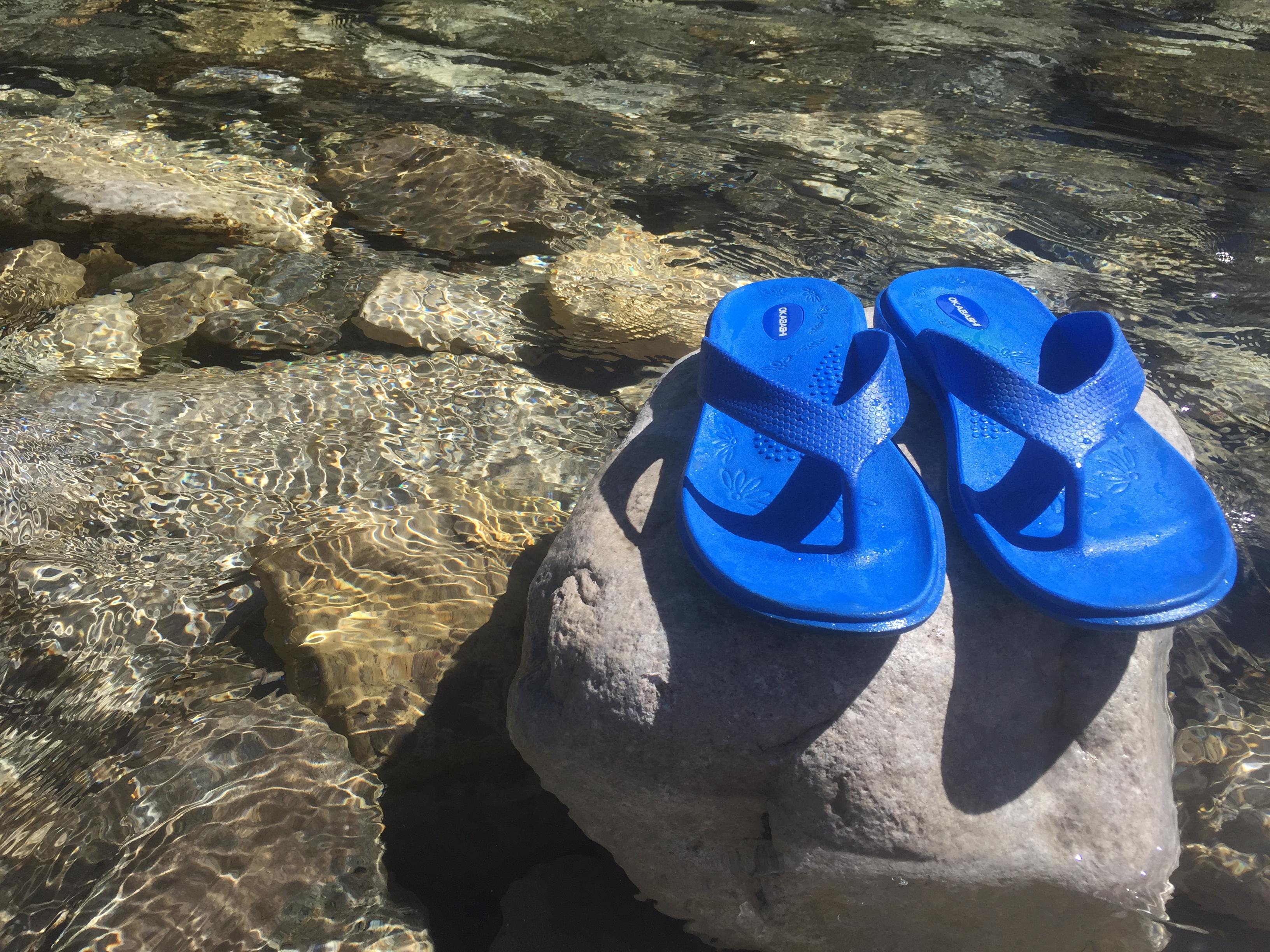 9bd5762af9abd Okabashi Flip Flops  Comfortable Feet Without the Footprint