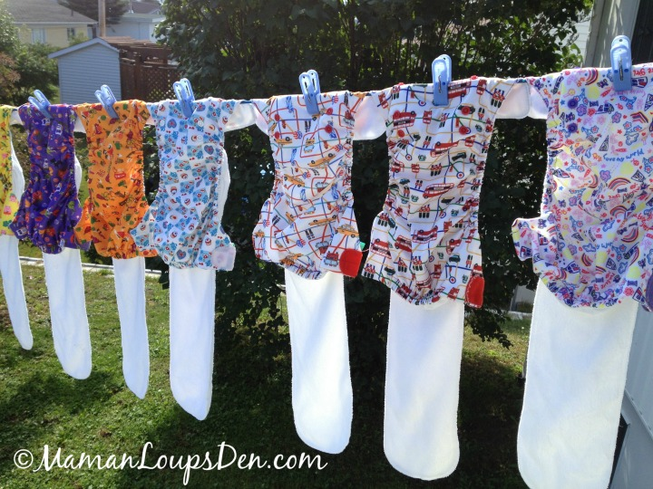 10 Fun Things to Do With Cloth Diapers - Hang them in the sun