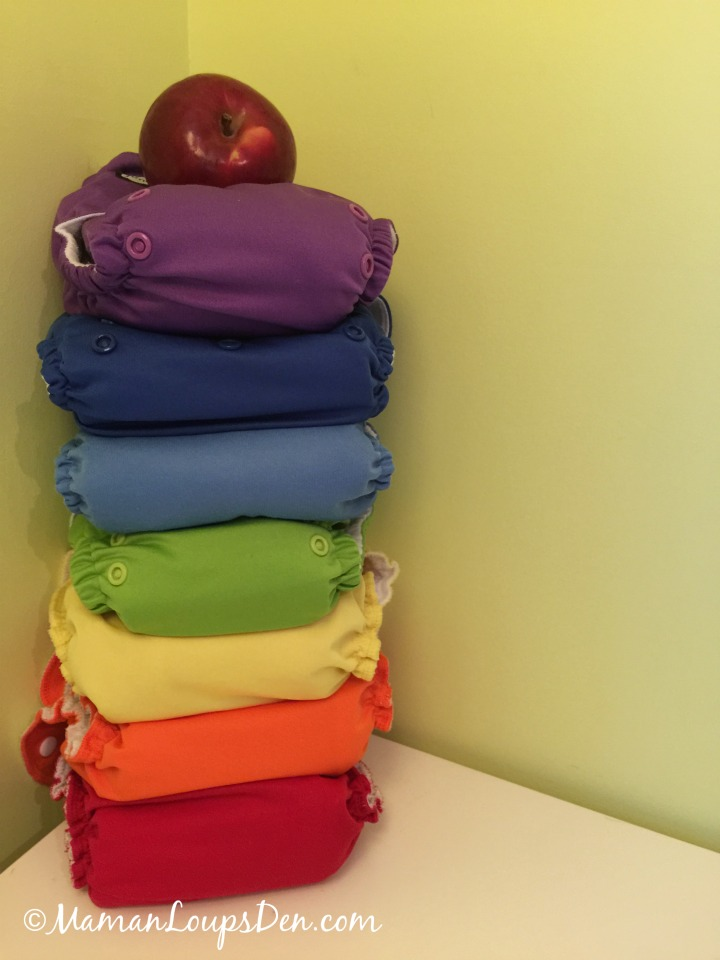 10 Fun Things To Do With Cloth Diapers - Make a Rainbow