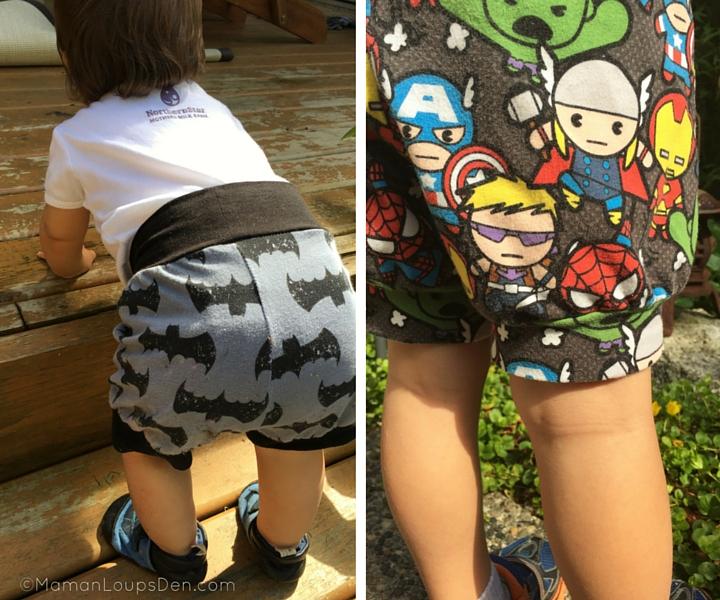 Side by Side in Eenvoudig Cuff Shorts baby and preschooler