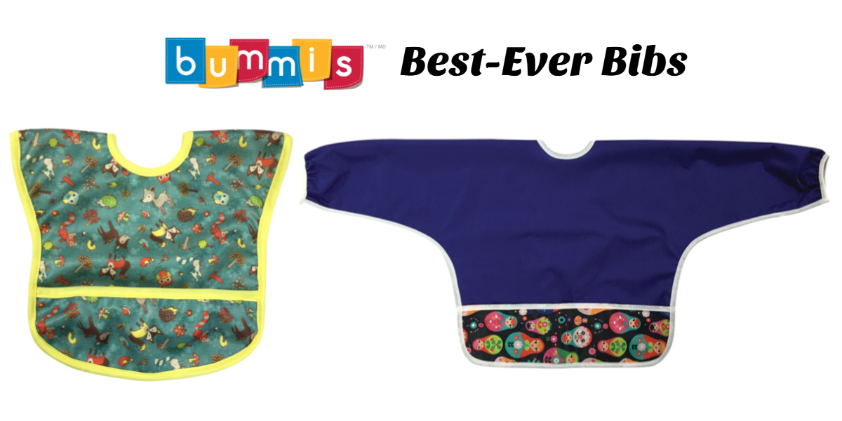 Less Mess During Baby Led Weaning with Bummis Best Ever Bibs