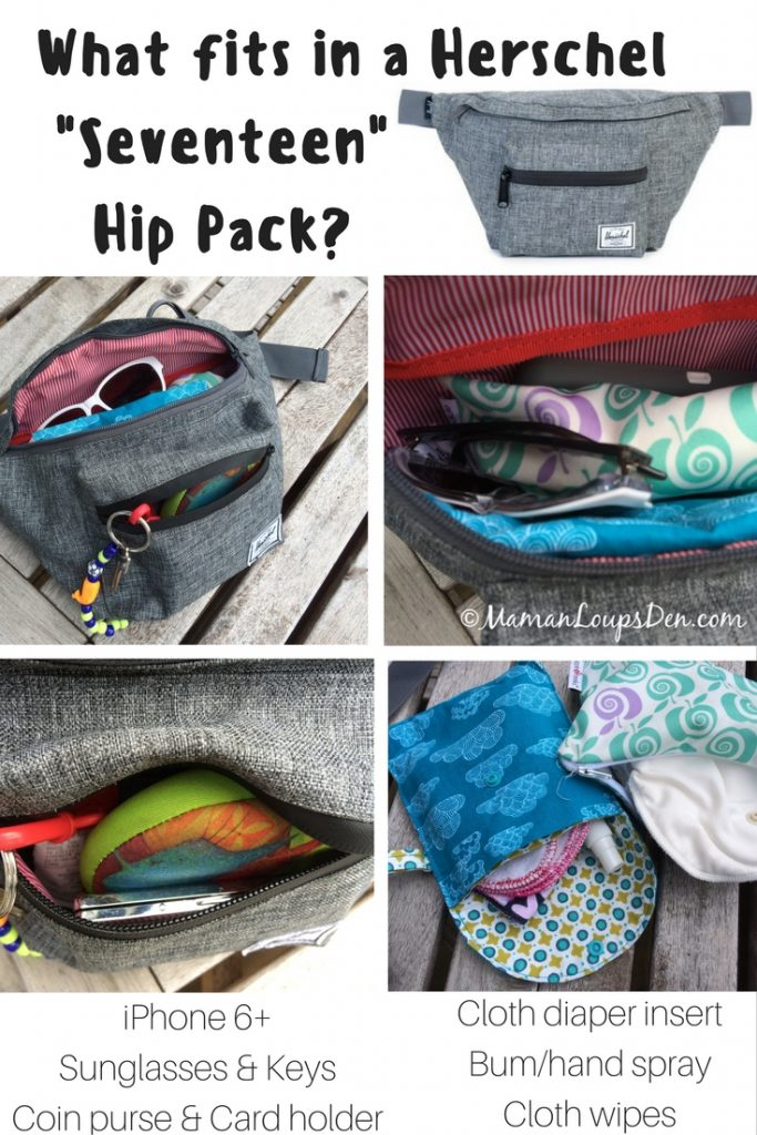 What fits in a Herschel Seventeen Hip Pack-
