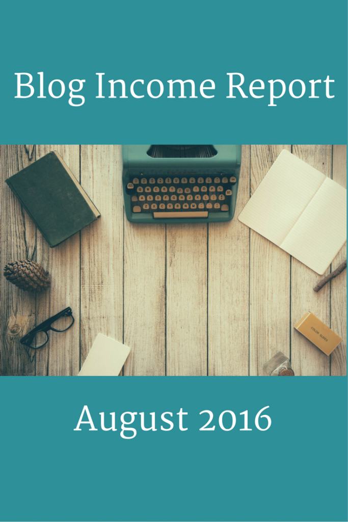 Blog Income Report: August 2016