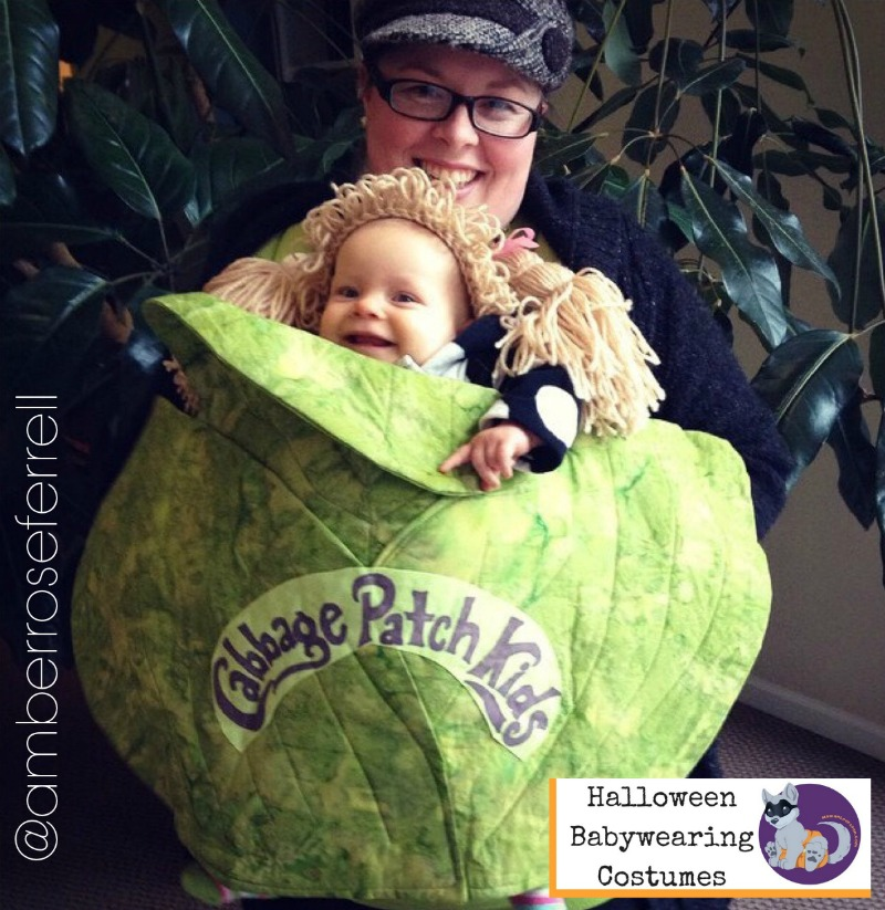 Halloween Babywearing Costume Idea: Cabbage Patch Kid