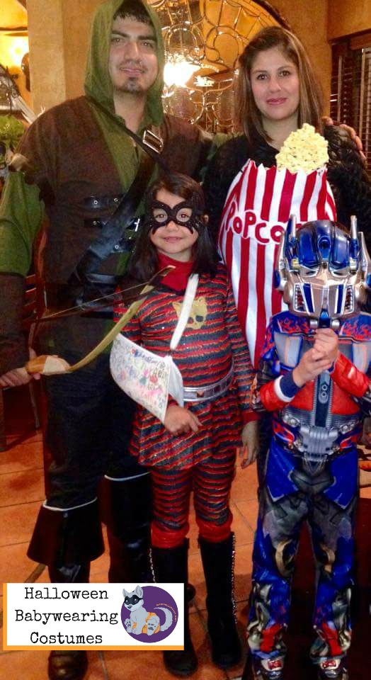 Halloween Babywearing Costume Idea: Popcorn