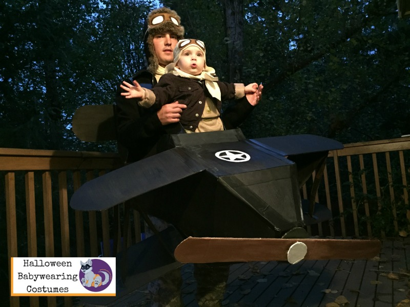 Halloween Babywearing Costume Idea: Pilot and airplane
