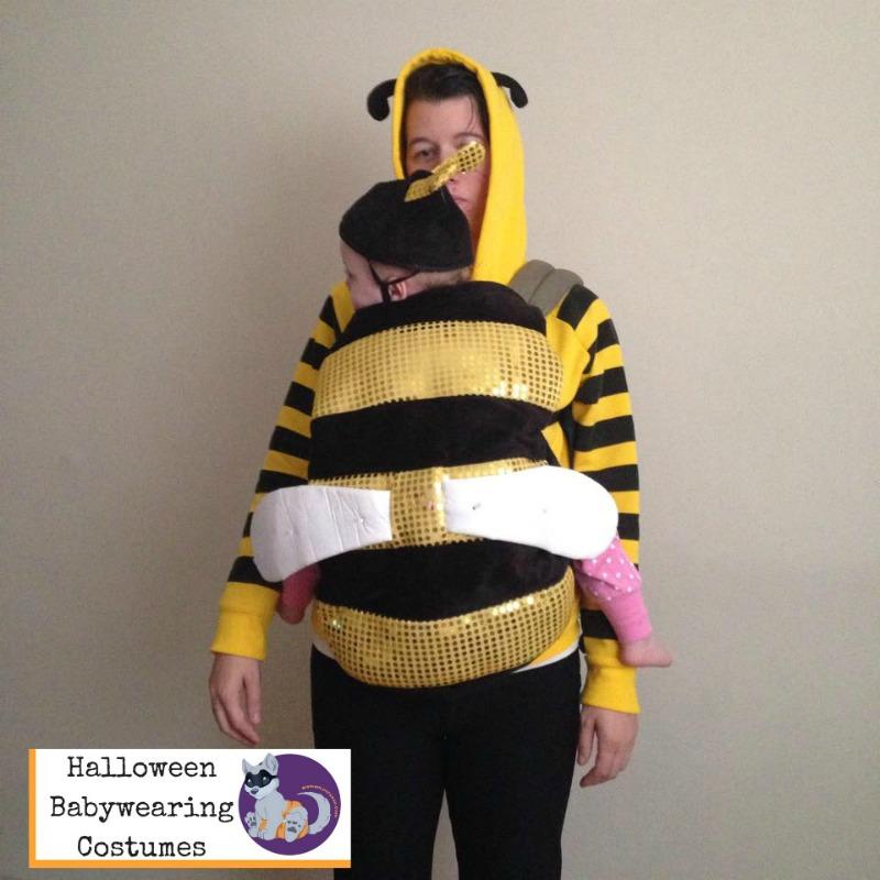 Halloween Babywearing Costume Idea: Bumblebee