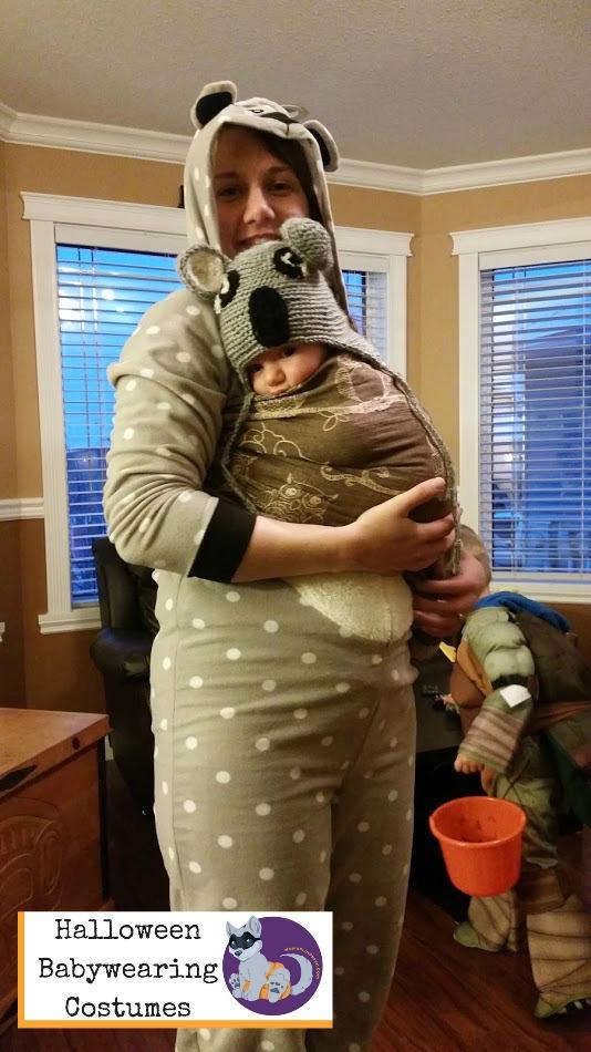 Halloween Babywearing Costume Idea: Koalas