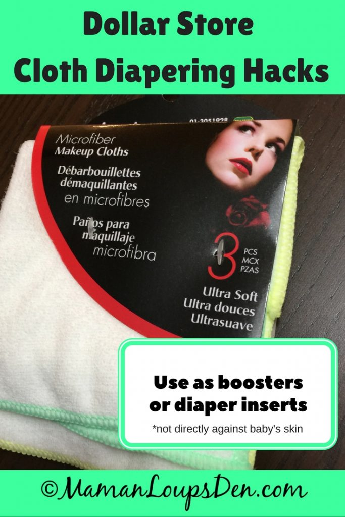 Dollar Store Cloth Diapering Hack: Microfibre towels as boosters