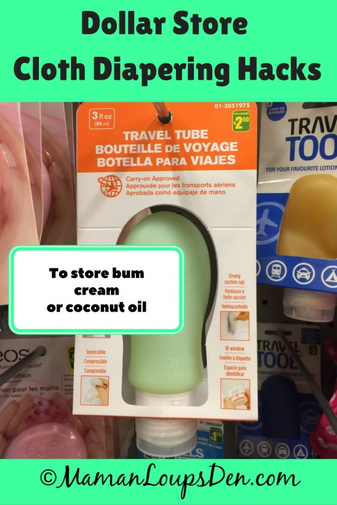 Dollar Store Cloth Diapering Hack: Travel squeeze tube for coconut oil