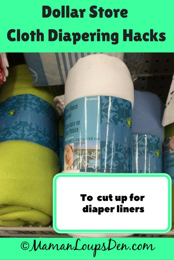 Dollar Store Cloth Diapering Hack: Fleece blankets for liners