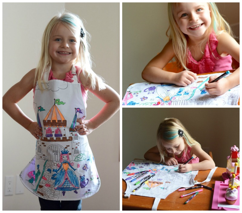 Made in Canada Children's Holiday Gift Guide: Sew Bright Creations Colouring Apron