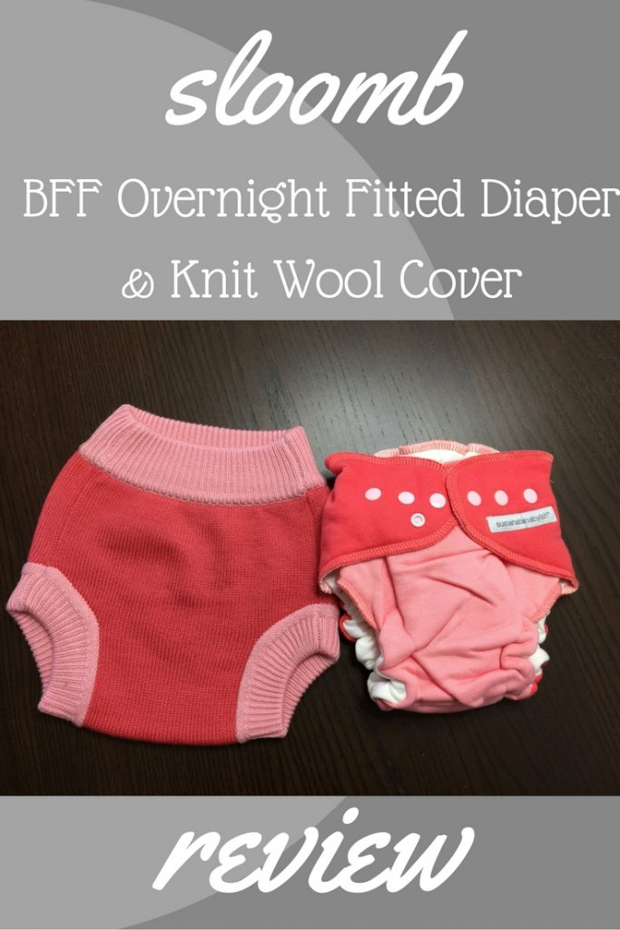 sloomb BFF Overnight Fitted Diaper and Knit Wool Cover Review