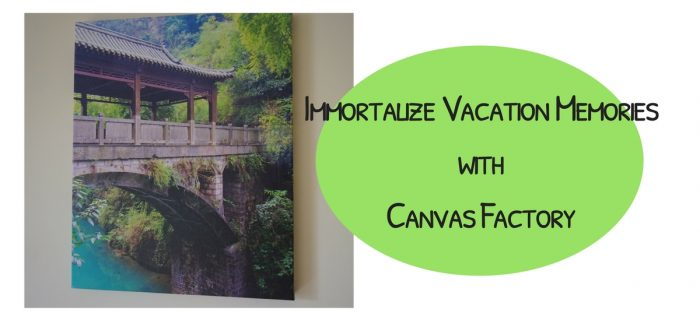 Immortalize Vacation Memories with Canvas Factory {+ a giveaway}