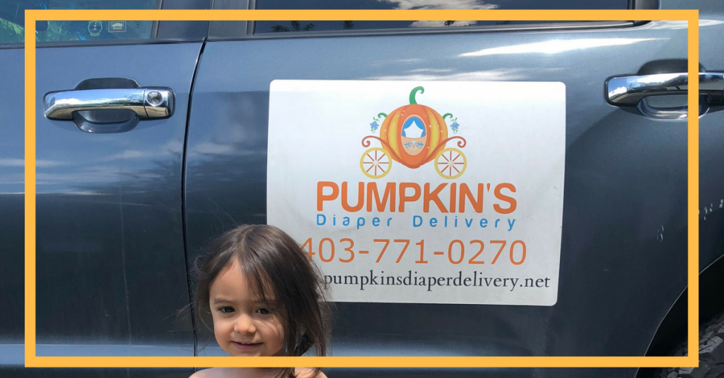 All About Calgary's Pumpkin's Diaper Delivery Service