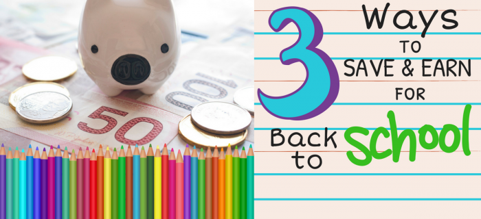 3 Ways to Save Money & Earn Money for Back-to-School Shopping {+ get 70 FREE Swagbucks!}