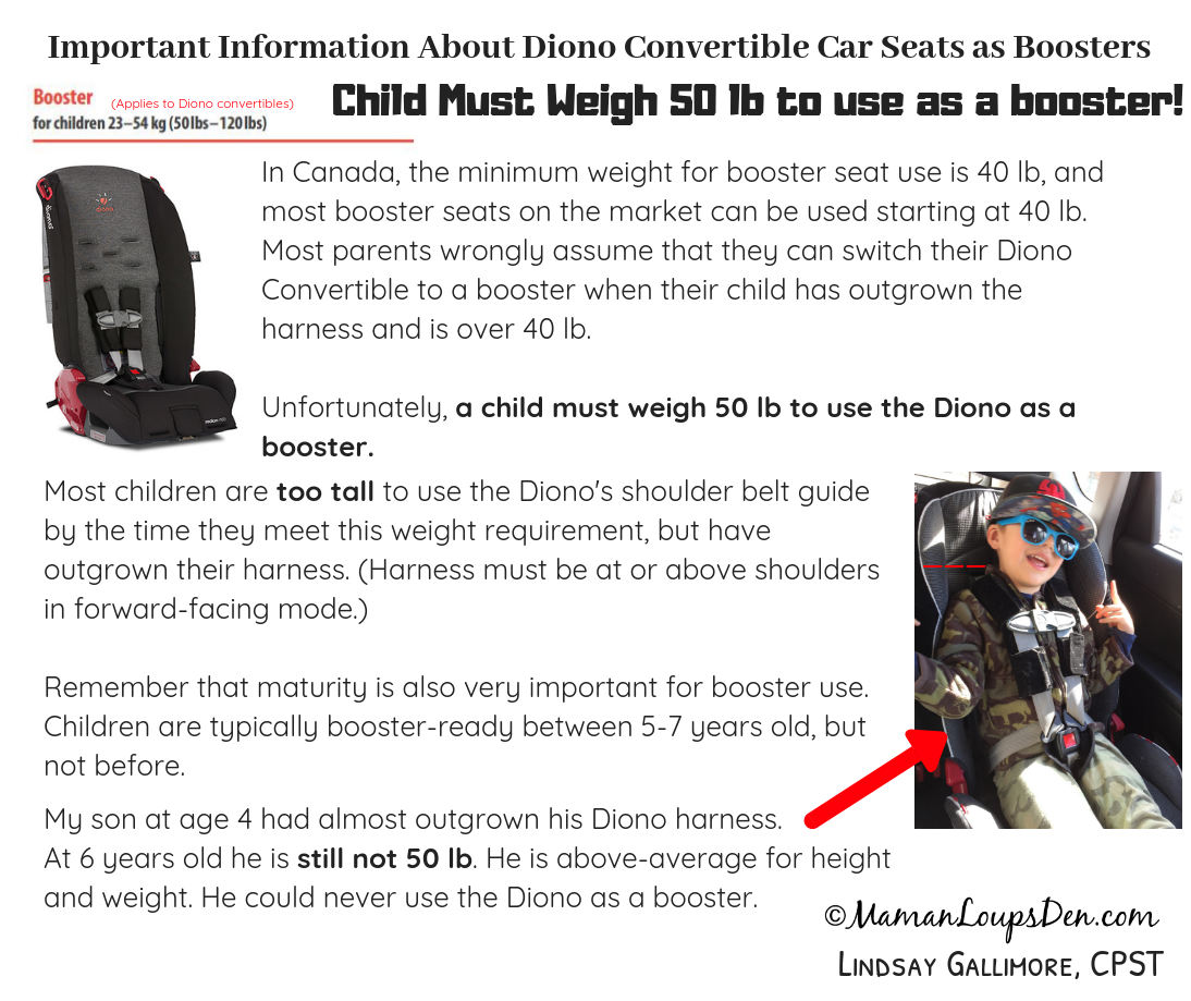 Child Booster Seat Weight And Height Requirements Canada