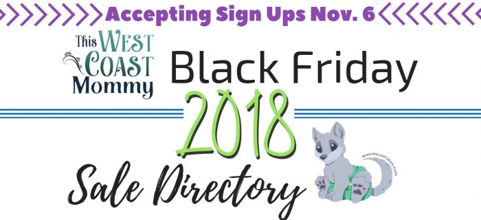 Black Friday Sales Directory – Sign Ups Open Nov. 6