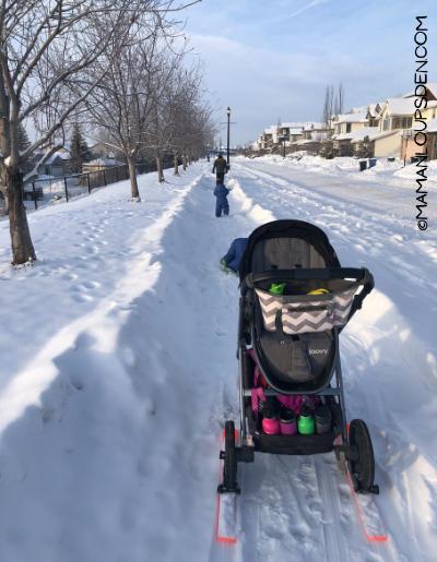 stroller skis