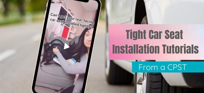 tight car seat installation